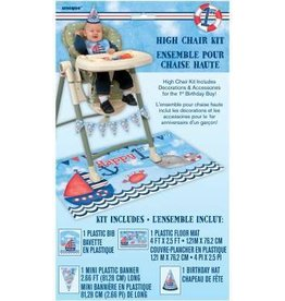 Nautical 1st Birthday High Chair Kit