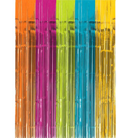 Multicolor Bright Fringe Doorway Curtain