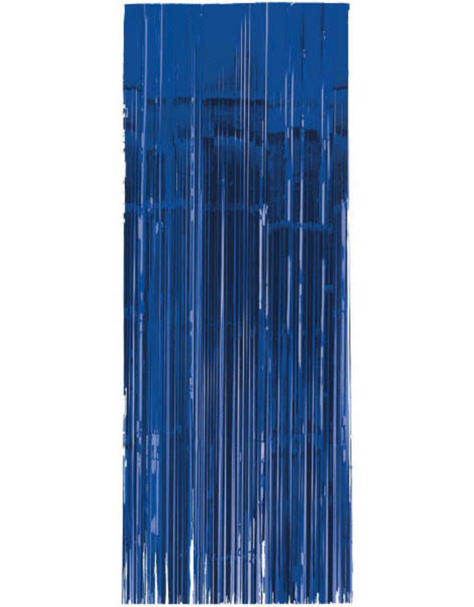 Royal Blue Fringe Doorway Curtain