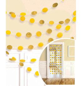 Glitter Sunshine Yellow Polka Dot String Decorations