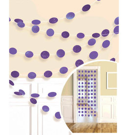 Glitter Purple Polka Dot String Decorations