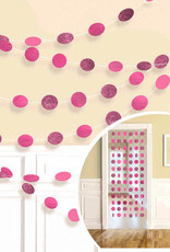 Glitter Pink Polka Dot String Decorations