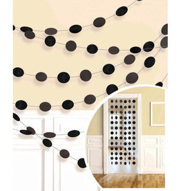 Glitter Black Polka Dot String Decorations