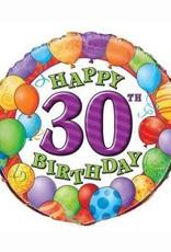 "30th Birthday Foil Balloon 18"""