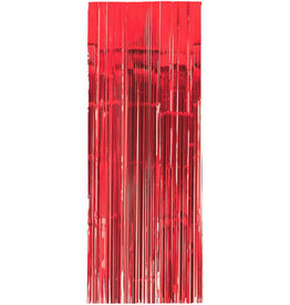 Red Fringe Doorway Curtain