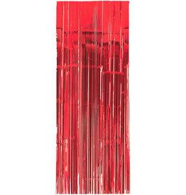 Red Fringe Doorway Curtain