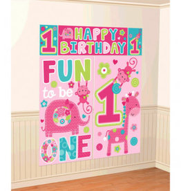 Wild Girl First Birthday Banner and Backdrop Kit