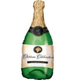 """Jumbo Champagne Bottle Foil Balloon 36"""""""