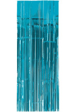 Caribbean 'Turquoise' Blue Fringe Doorway Curtain