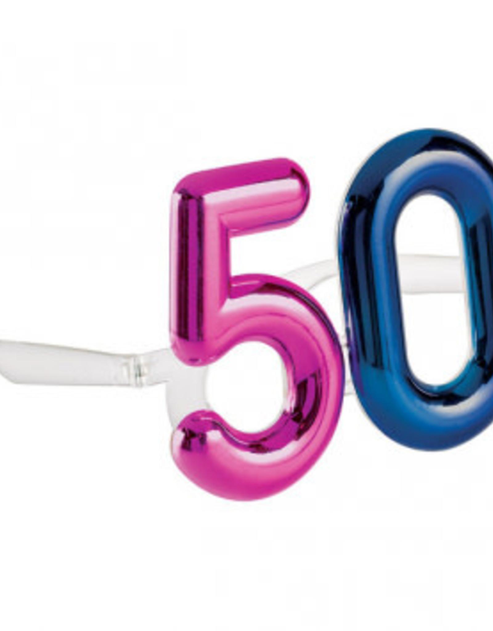 Metallic 50th Birthday Glasses