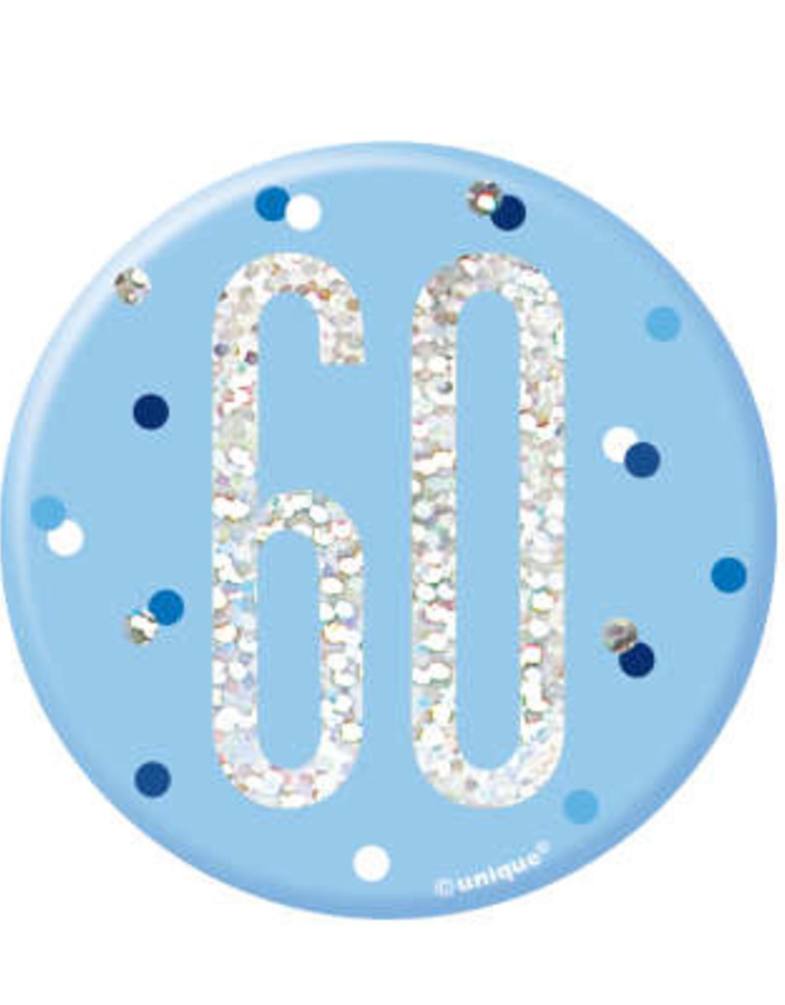 Glitz Blue 60th Pin