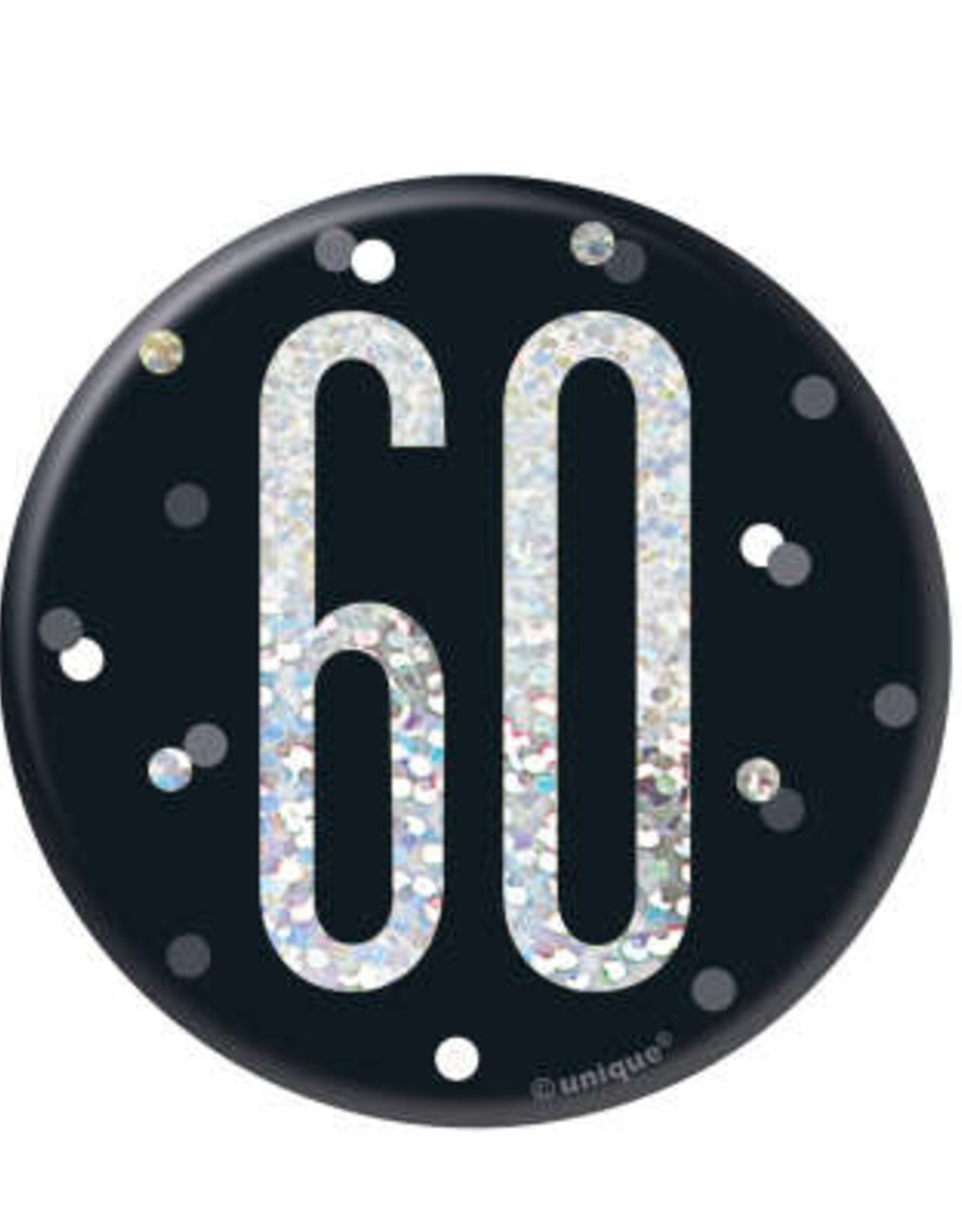 Glitz Black 60th Pin