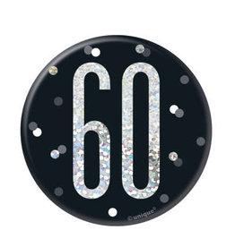 Glitz Black 60th Pin