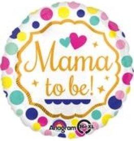"Mama To Be Polka Dot Foil Balloon 18"""