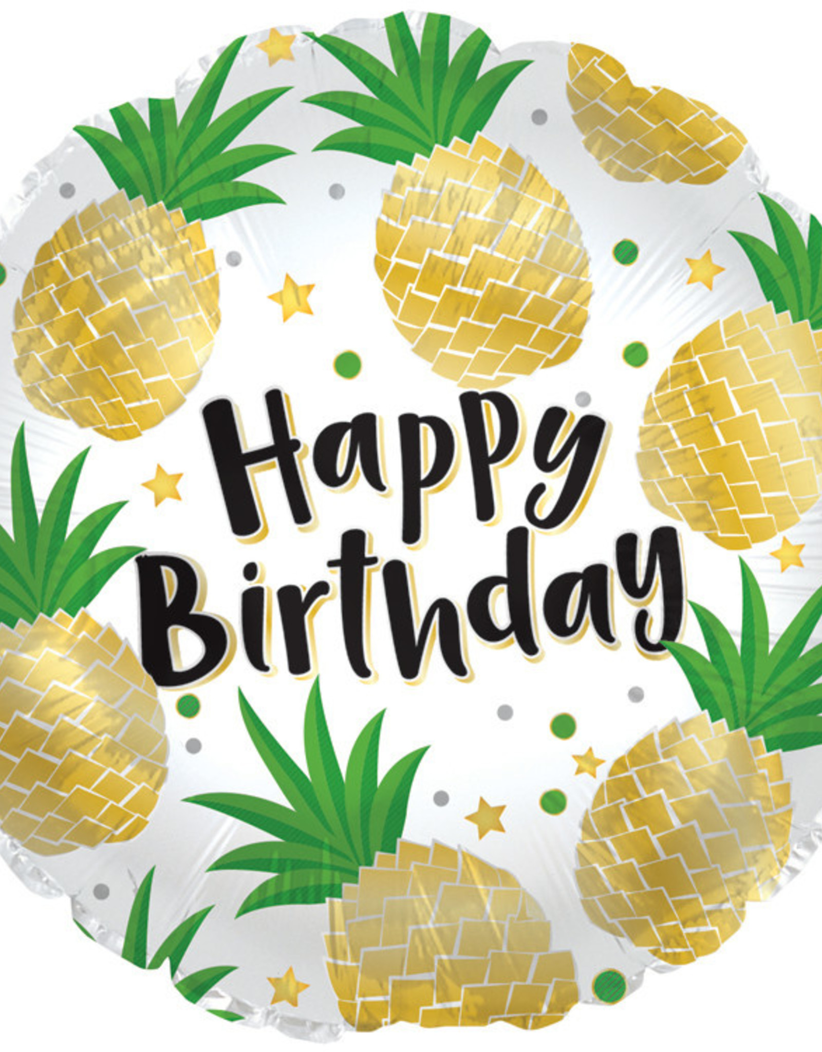 Pineapple Happy Birthday Foil Balloon 18""