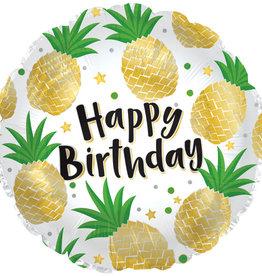 "Pineapple Happy Birthday Foil Balloon 18"""