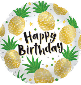 Pineapple Happy Birthday Mylar Balloon 18""