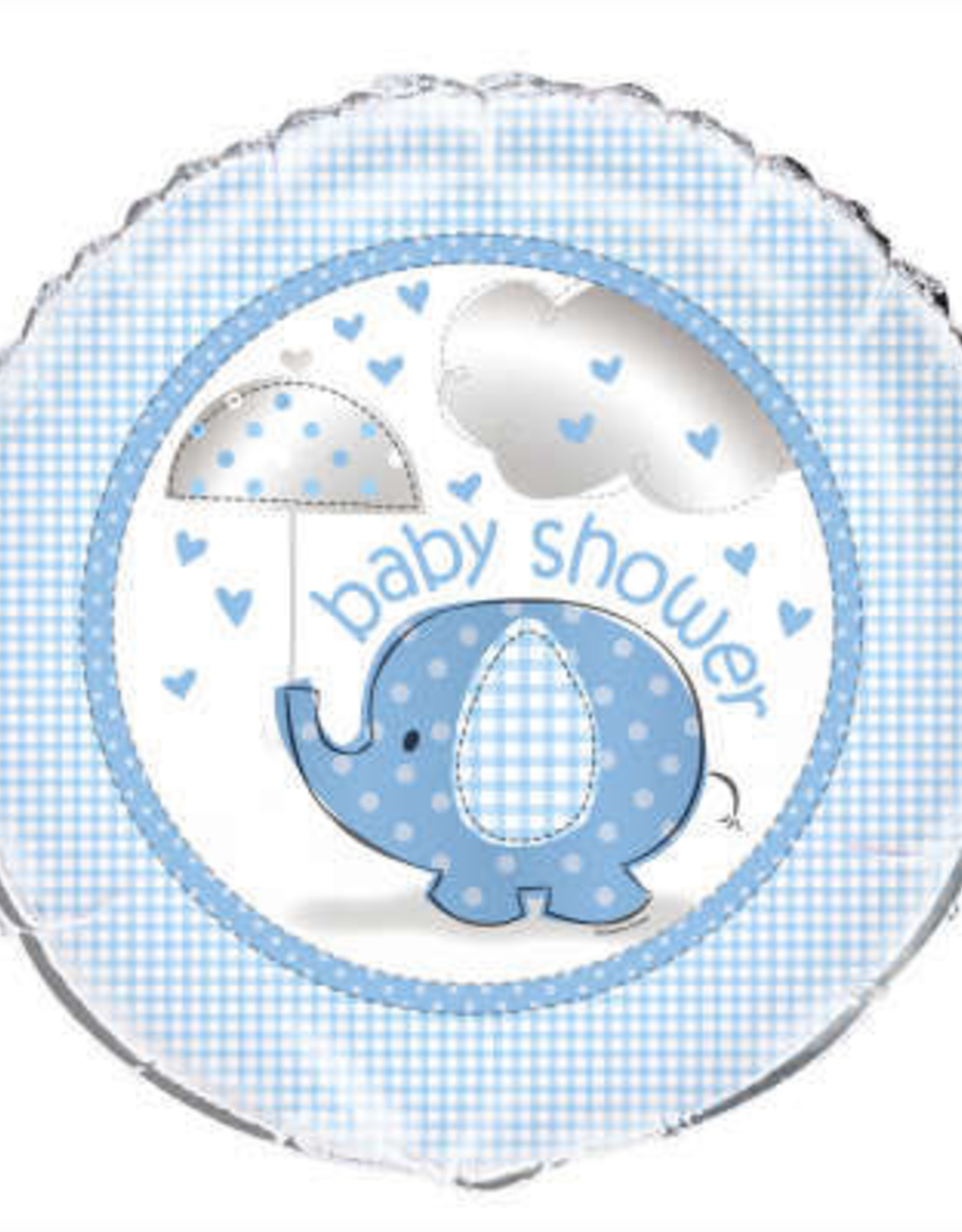 "18"" Blue Elephant 'Baby Shower' Foil Balloon 18"""