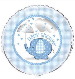 "18"" Blue Elephant 'Baby Shower' Foil Balloon 18"""