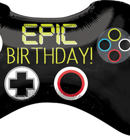 'Epic Birthday!' Game Controller Foil Balloon  28""