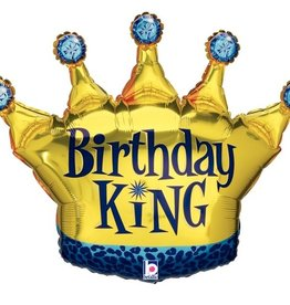 Birthday King Foil Balloon 36""