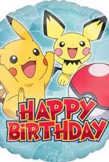 "Pokemon Happy Birthday Foil Balloon 18"""