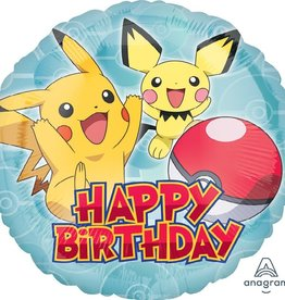 Pokemon Happy Birthday Foil Balloon 18""