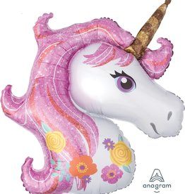 Magical Unicorn Head Foil Balloon 38""