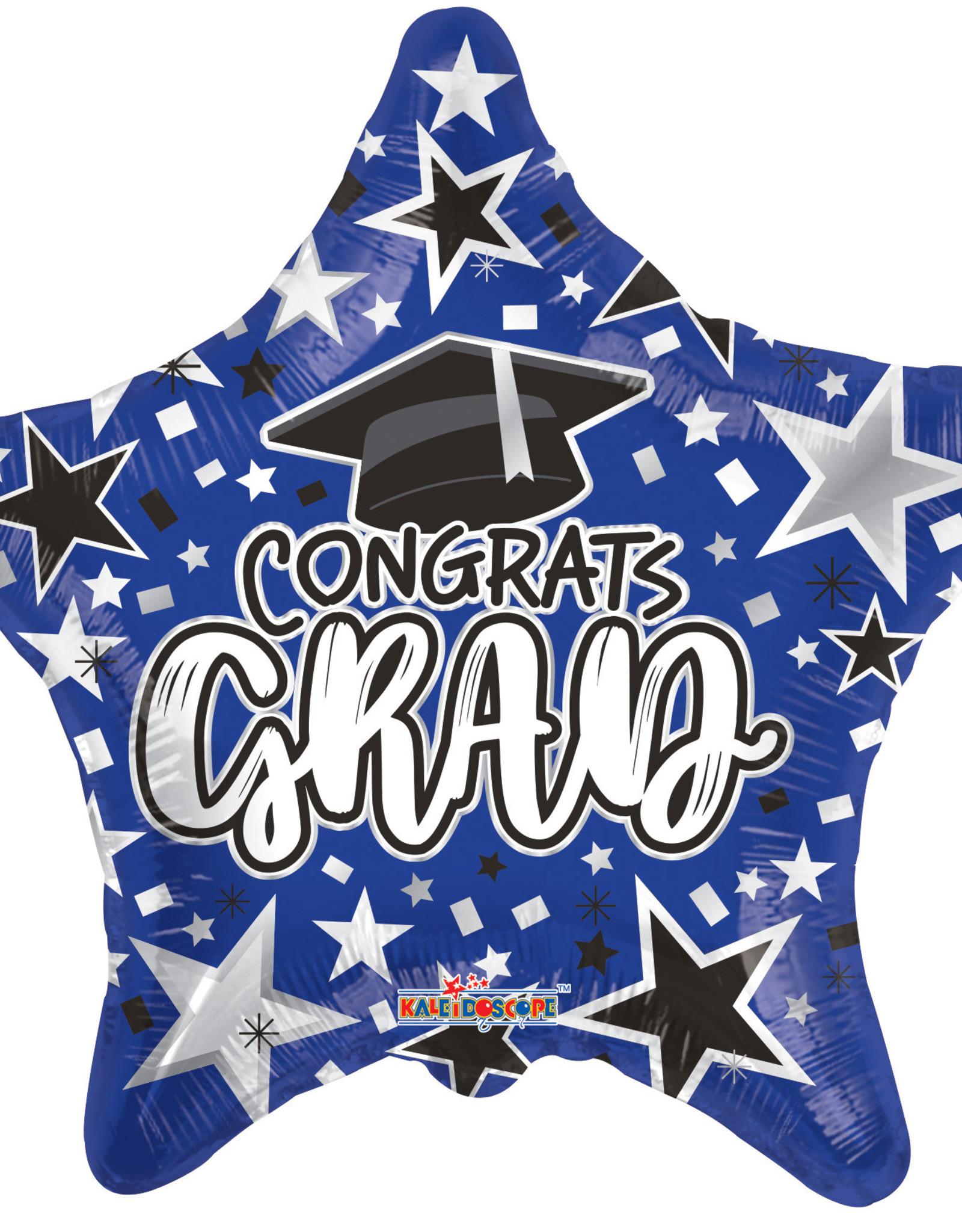 """18"""" Royal Blue Congrats Grad Star Mylar"""