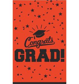 """Orange Congrats Grad Tablecloth 54"""" x 84"""""""