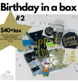 Birthday In a Box #2 Black & Gold