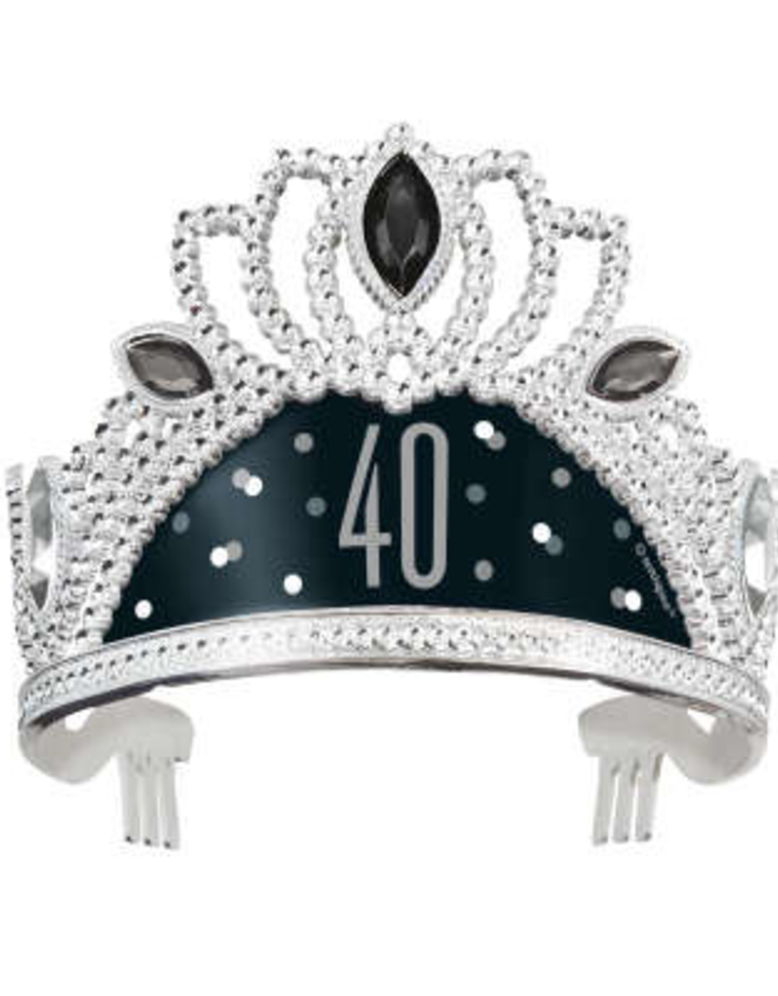 40th Black & Silver Adult Tiara