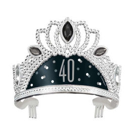 40th Black & Silver Adult Tiara