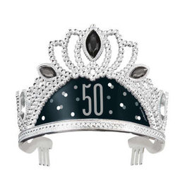 50th Black and Silver Tiara