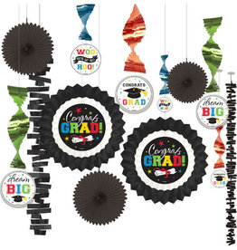 Grad Paper Fan Decorating Kit