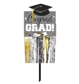 Grad Foil Lawn Sign