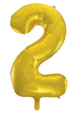 """34"""" Gold Number 2 Balloon"""