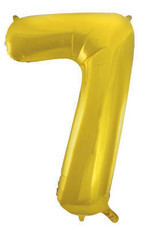 """34"""" Gold Number 7 Balloon"""