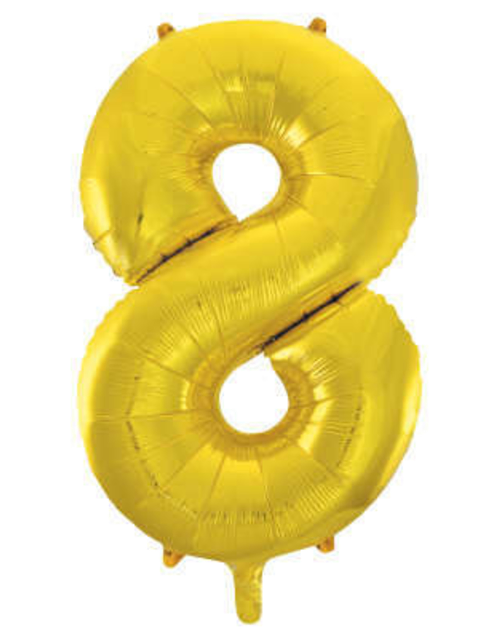 "34"" Gold Number 8 Balloon"