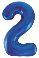 "34"" Blue Number 2 Balloon"