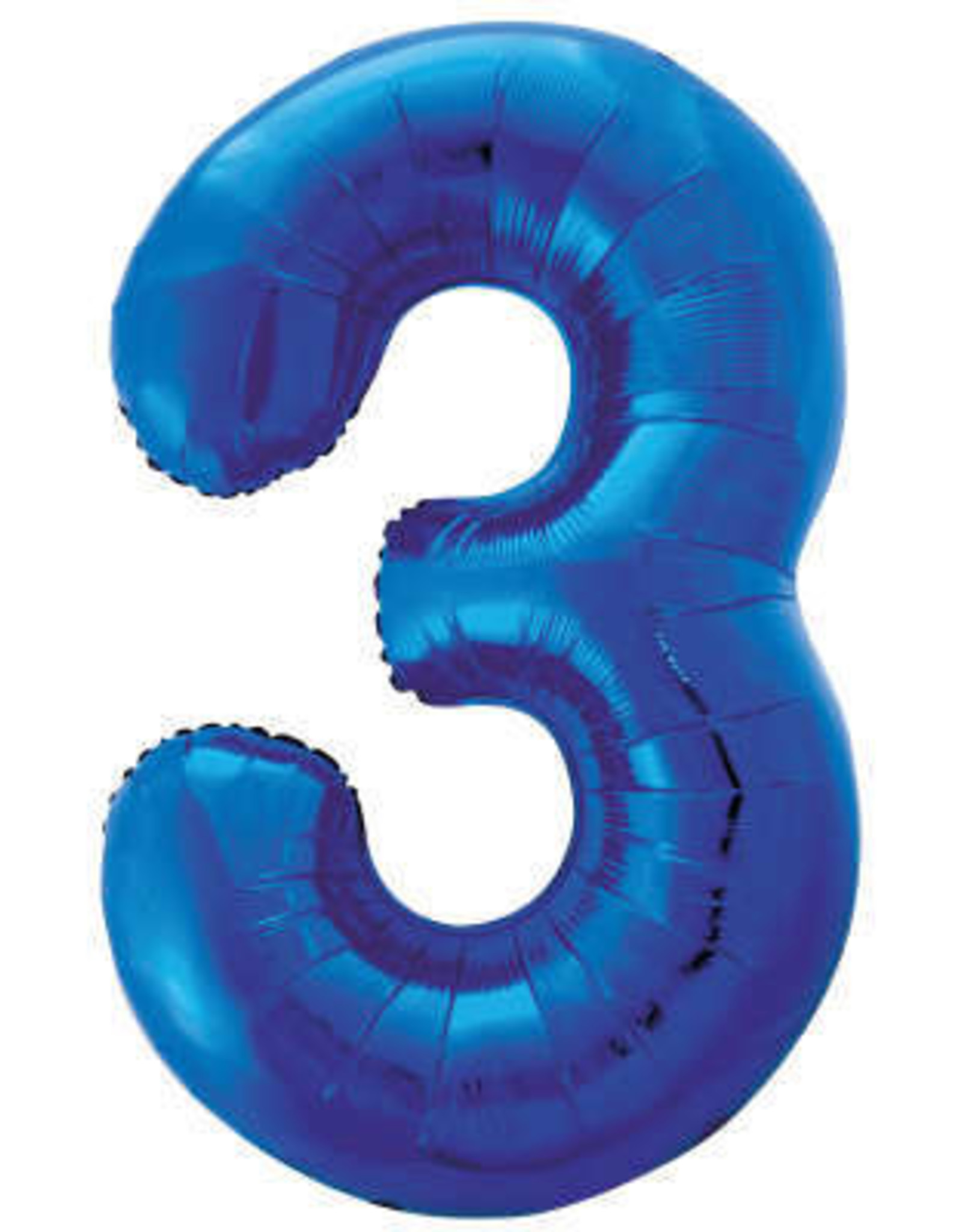 """34"""" Blue Number 3 Balloon"""
