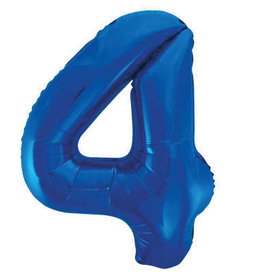 "34"" Blue Number 4 Balloon"