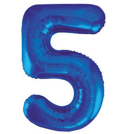 "34"" Blue Number 5 Balloon"
