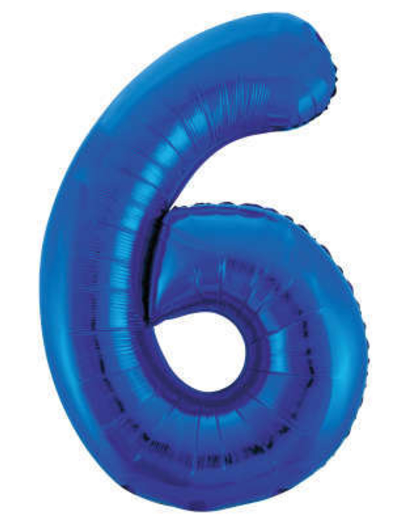 """34"""" Blue Number 6 Balloon"""