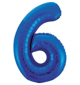 "34"" Blue Number 6 Balloon"