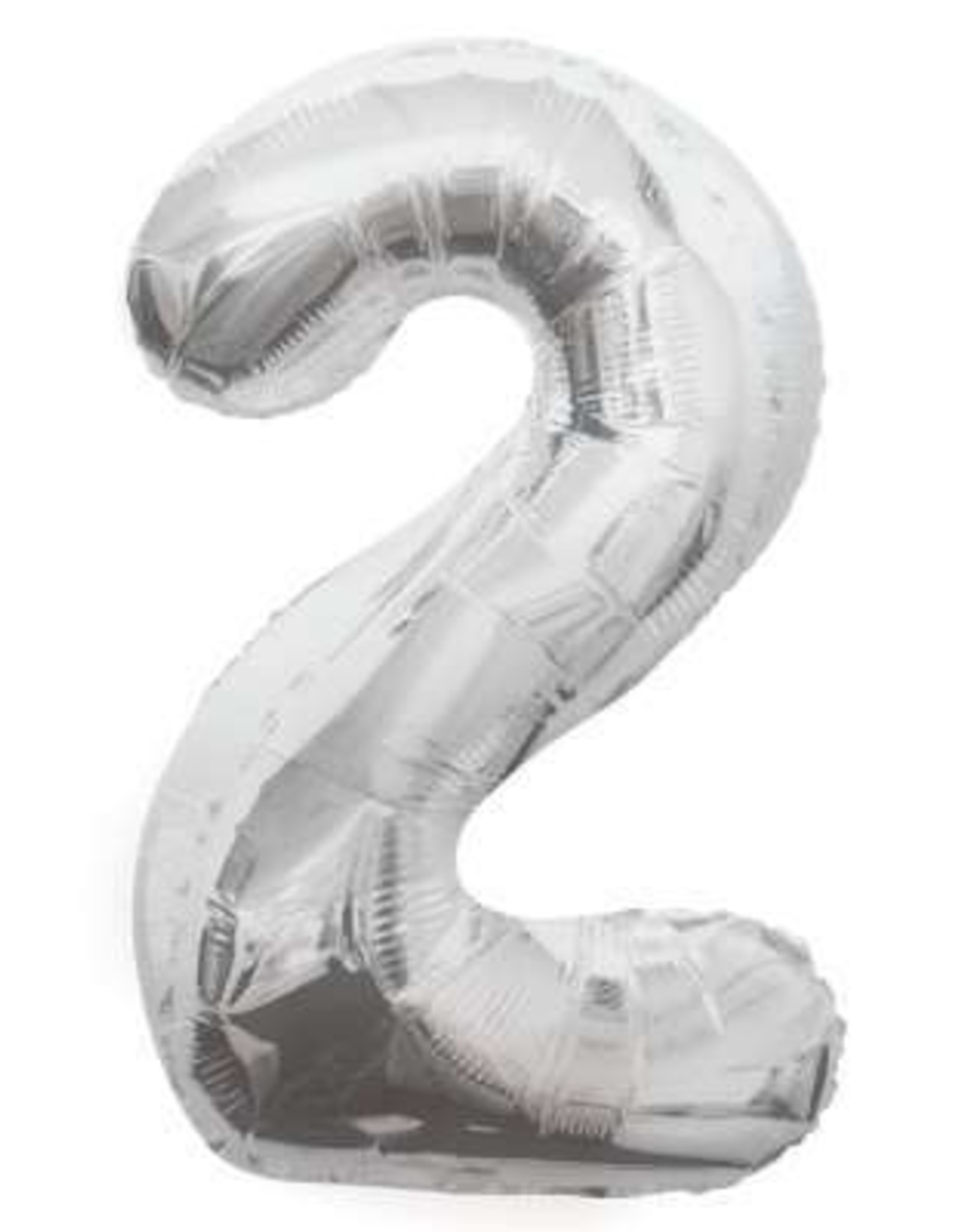"""34"""" Silver Number 2 Balloon"""