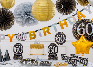 60th Birthday Party Supplies