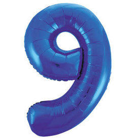 "34"" Blue Number 9 Balloons"