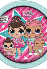 "LOL Surprise Round 7"" Dessert Plates 8ct"
