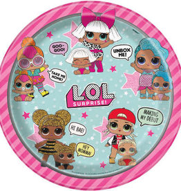 "LOL Surprise Round 9"" Dinner Plates 8ct"